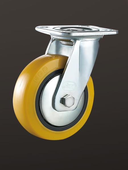平底活动PU重型脚轮
