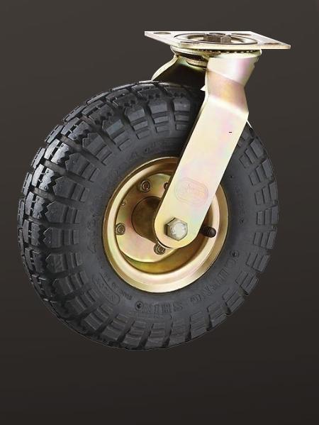 平底活动充气轮