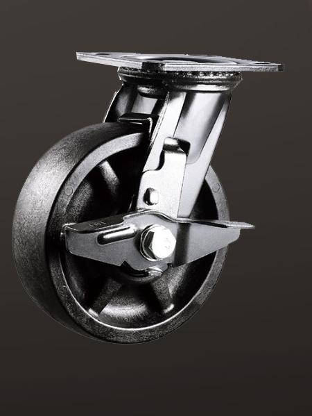 重型平底边刹260度高温轮