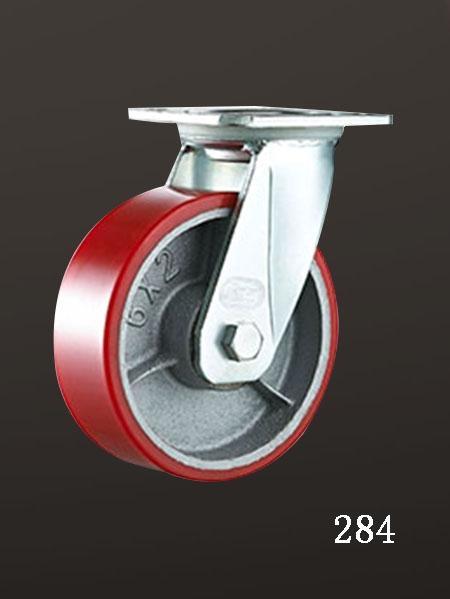 万向铁芯脚轮,平底活动(lron Core PU)轮