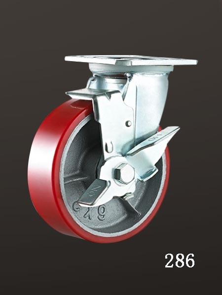 平底铁芯脚轮,平底边刹(lron Core PU)轮