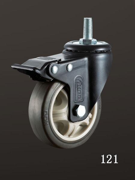 丝杆双刹TPR轮