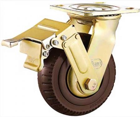 6寸/8寸/10寸垃圾桶刹车脚轮