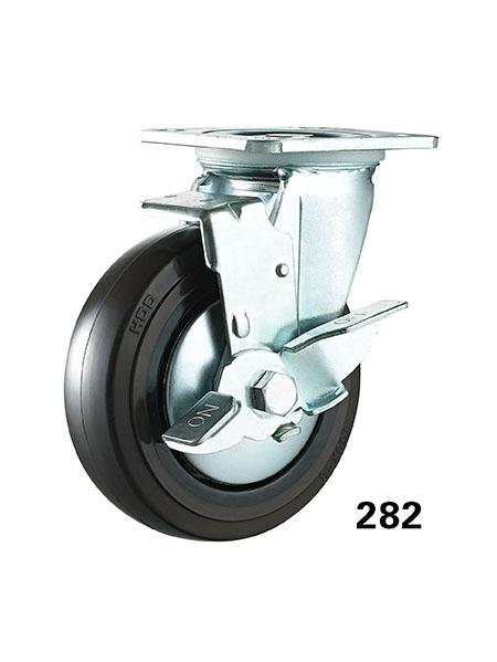 150度耐高温橡塑脚轮