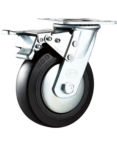 带刹车不锈钢脚轮